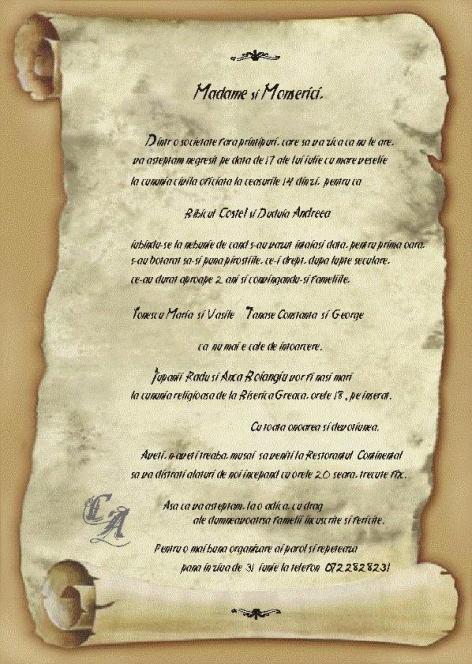 Texte Invitatii De Nunta Modele Invitatii Nunta Texte Invitatii