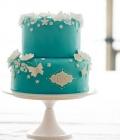 Combinatii de culori pentru nunta: turcoaz si alb