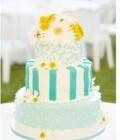 Combinatii de culori pentru nunta: turcoaz si galben