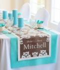 Combinatii de culori pentru nunta: turcoaz si maro
