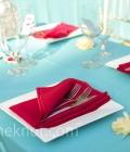 Combinatii de culori pentru nunta: turcoaz si rosu