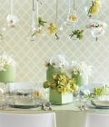 Combinatii de culori pentru nunta: vernil, menta, fistic, verde deschis