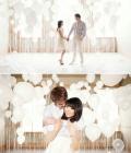 Combinatii de culori pentru nunta: alb, ivory