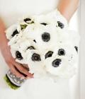 Combinatii de culori pentru nunta: alb si negru