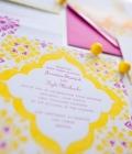 Culori neon: invitatii, carduri de masa, meniuri