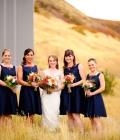 Culori pentru nunti de toamna: bleumarin