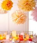 Decoratiuni de nunta: pomandere sau pom poms din hartie