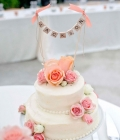 Decoratiuni pentru tortul de nunta cu ghirlande (I)