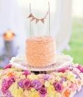Decoratiuni pentru tortul de nunta cu ghirlande (II)