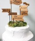 Decoratiuni pentru tortul de nunta sub forma de mesaje specifice (I)