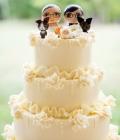 Figurine mire si mireasa pentru tortul de nunta (I)