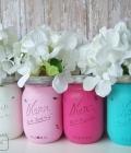 Mason jars: borcane vopsite (I)