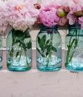 Mason jars: decorare mese nunta