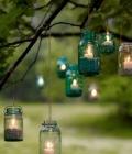 Mason jars: suport lumanari