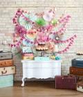 Masute cu dulciuri pentru nunta pe suporturi diverse, rustice sau vintage