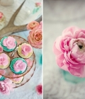 Combinatii de culori pentru nunta: turcoaz si roz