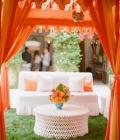 Amenajarea spatiului pentru petrecerea de nunta: zona lounge