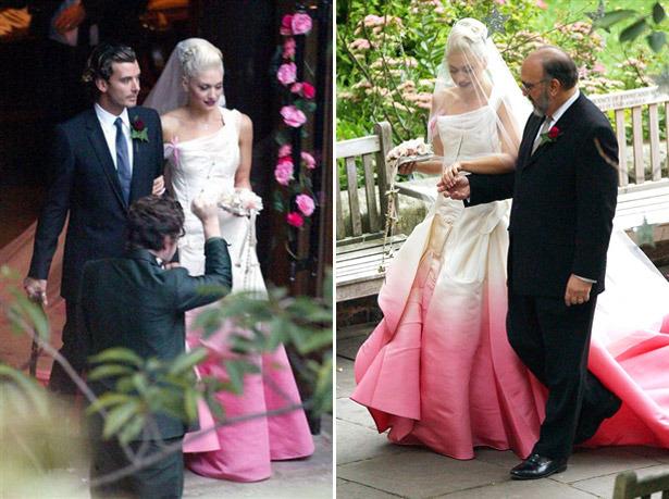 Gwen Stefani rochie de mireasa