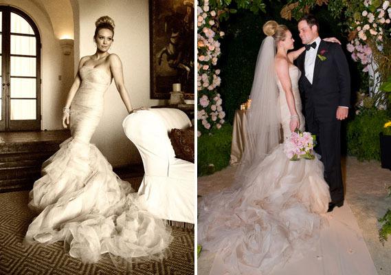 Hilary Duff rochie de mireasa
