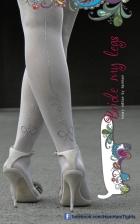 Dresuri pentru mirese pictate manual - Bride My Legs by Laura Bucur