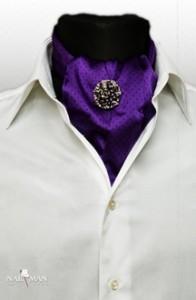 esarfa-brosa-matase-violet-bijuterii-mire | accesorii de mire ginere