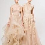 rochii de mireasa nuante crem, gri, piersica_Reem Acra_ profil