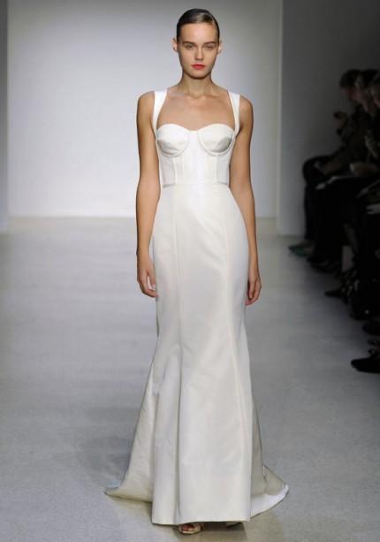 Rochie de mireasa cu corset Amsale - Colectia 2013